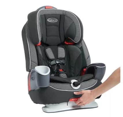 The cup holder and snack compartment of the Graco is a sweet, thoughtful feature!- Britax Frontier vs Graco Nautilus Review - Britax Grow With You ClickTight vs Graco Nautilus 65 LX Review   Baby Journey