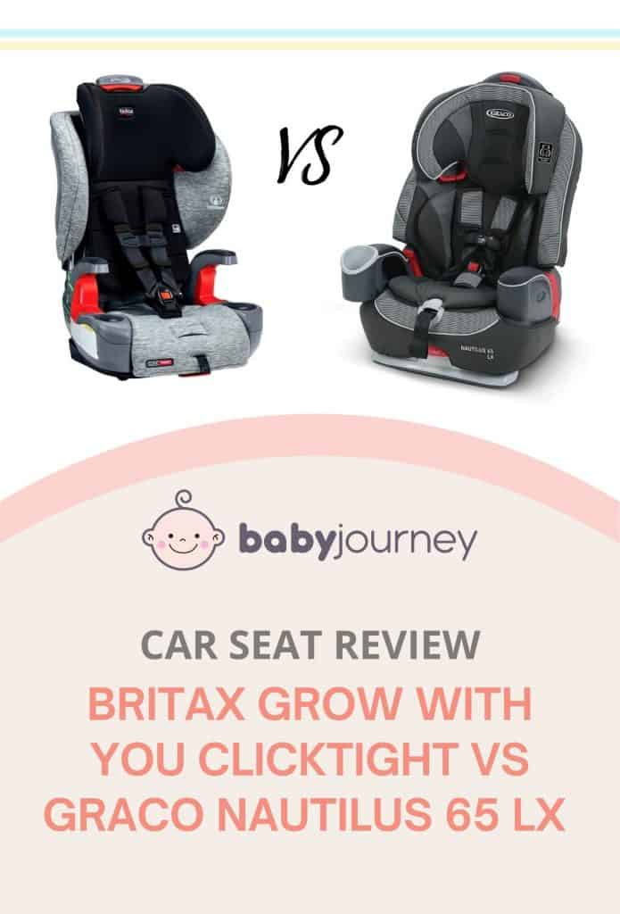 Britax Frontier vs Graco Nautilus Review - Britax Grow With You ClickTight vs Graco Nautilus 65 LX Review   Baby Journey