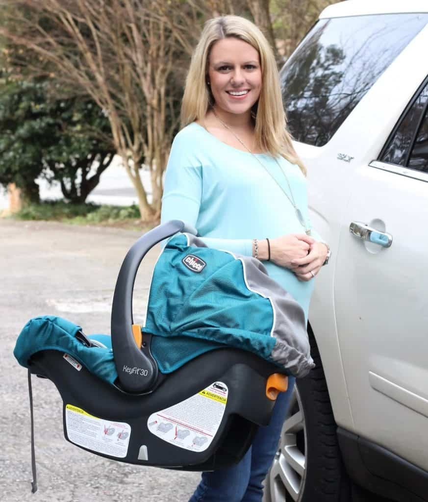 The Chicco KeyFit is light enough to handle with ease. - Chicco KeyFit 30 Infant Car Seat Review | Baby Journey