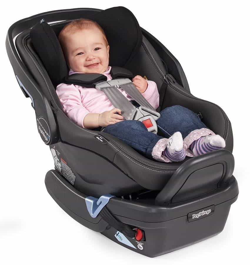 The Peg Perego dual-stage cushion supports the baby's posture. - Peg Perego Primo Viaggio 4-35 Review | Baby Journey