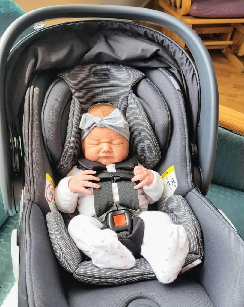 The Chicco Fit2 padded harness is safe and comfortable. - Chicco Fit2 Review | Baby Journey
