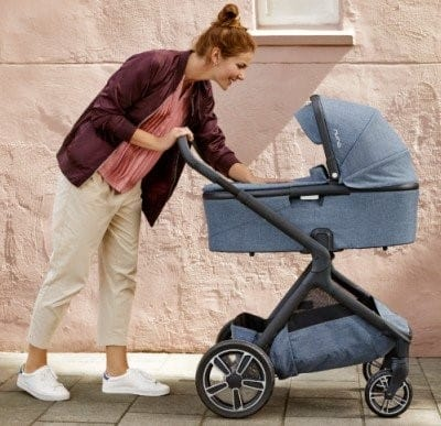 You can pair the DEMI bassinet with the Nuna DEMI Grow stroller but you'll need to get the adapters separately.- Nuna DEMI Grow Convertible Stroller Review | Baby Journey