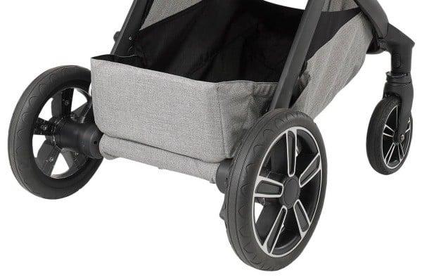 Nuna DEMI Grow stroller wheels are tough enough to go on all terrains.- Nuna DEMI Grow Convertible Stroller Review | Baby Journey