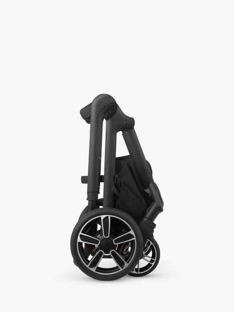 The Nuna Demi Grow folds into a compact standalone unit. - Nuna DEMI Grow Convertible Stroller Review | Baby Journey