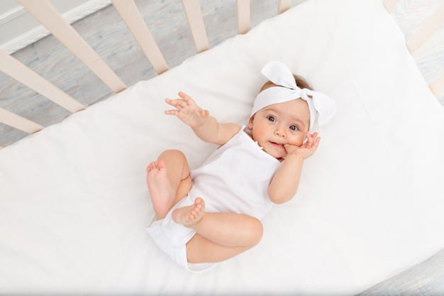 Let your baby sleep on the crib mattress without pillows and soft toys, because bare is best! - Best Crib Mattress Review | Baby Journey