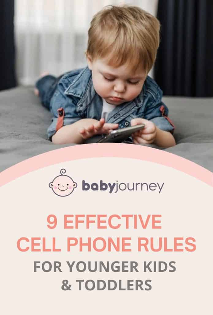 9 Effective Cell Phone Rules for Younger Kids & Toddlers   Baby Journey