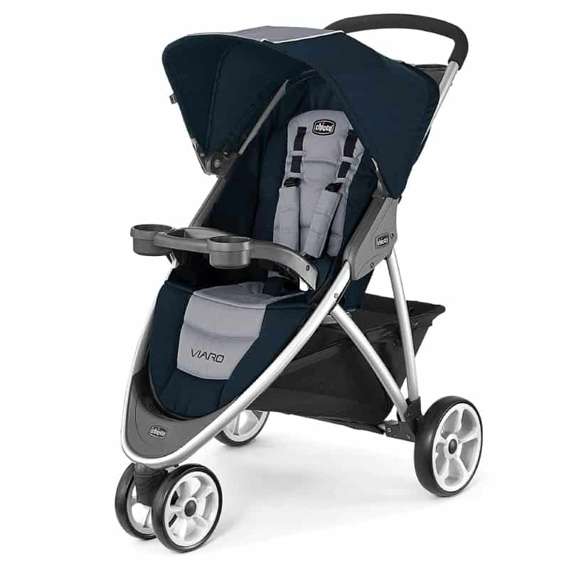 The three wheel design is very agile and great for busy areas.- Chicco Viaro Travel System Review | Baby Journey