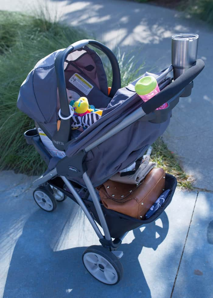The system comes with the Chicco KeyFit 30 car seat, but you can fit all other Chicco infant car seats on the Viaro stroller. - Chicco Viaro Travel System Review | Baby Journey