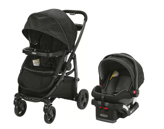 The retracting mechanism is quite simple. Just move the pod backward to pop it out. - Nuna RAVA Convertible Car Seat Review | Baby Journey