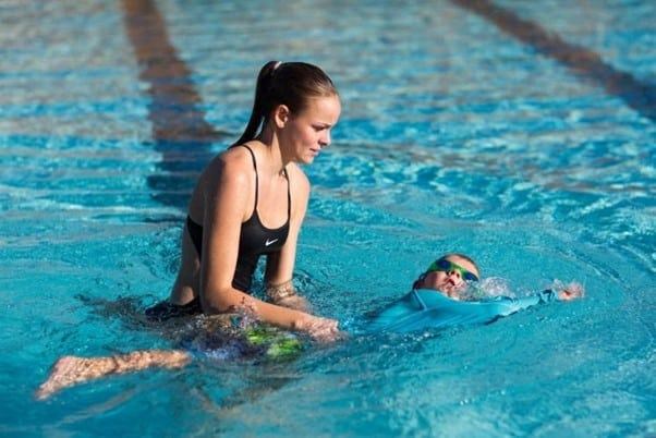 Practice short swims as your toddler masters more skills | A Guide On How to Teach A Toddler to Swim | Baby Journey