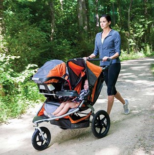 The BOB Duallie wheels and suspensions system work in all terrains. Source: Pinterest l BOB Revolution Flex 3.0 Duallie in Review l Baby Journey