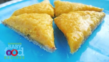 Cheesy Egg Triangles l 20 Best Finger Foods for Your Baby to Try Today l Baby Journey
