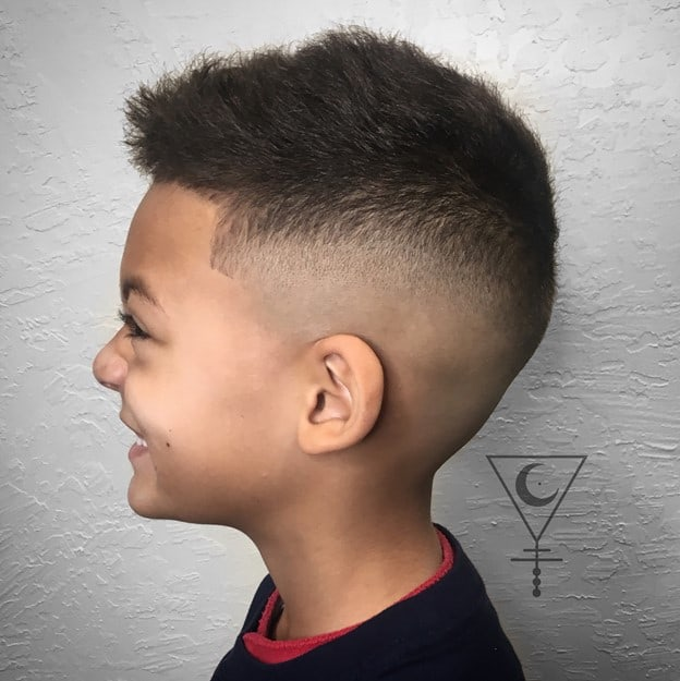 Fade hairstyle. - 10 All-Time Popular Toddler Boy Haircuts | Baby Journey
