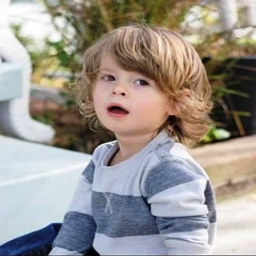 Layered hairstyle. - 10 All-Time Popular Toddler Boy Haircuts | Baby Journey