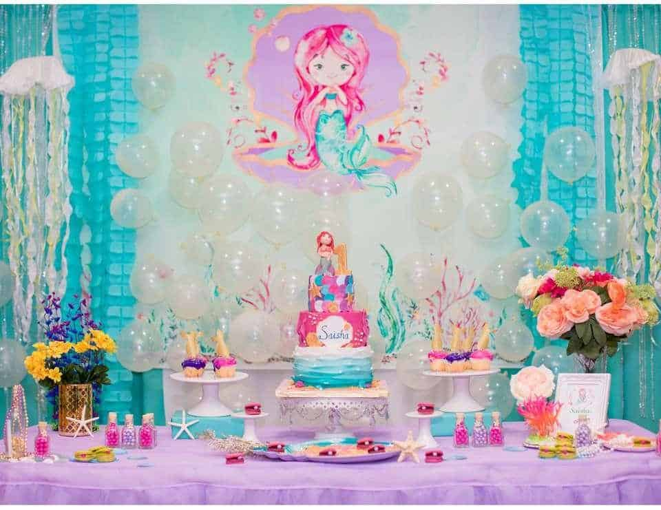 Every little girl wants to be a mermaid, so why not make a mermaid birthday! You can make costumes for guest kids and dress up the birthday girl too! - The Ultimate Guide to Planning Your Baby's First Birthday l Baby Journey