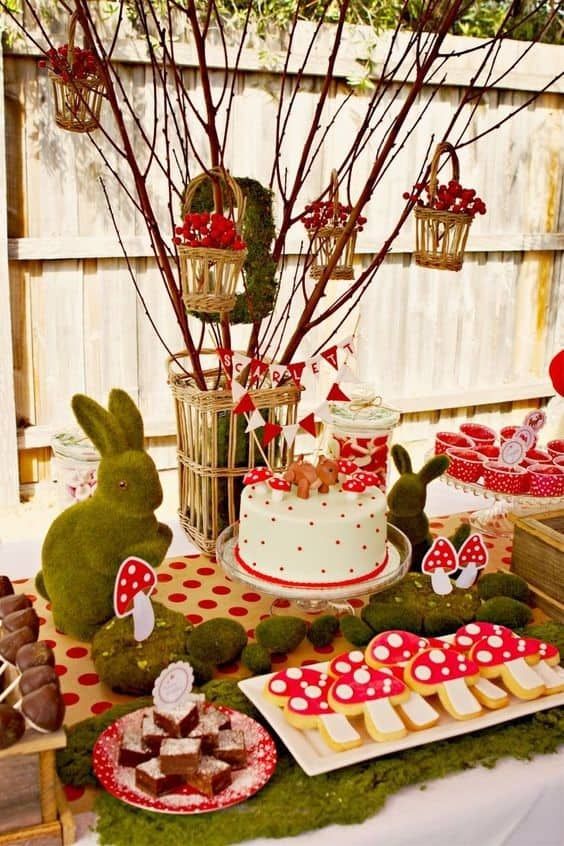 What about the enchanted forest as a theme? It gives you plenty of options for decoration, food and dressing up! - The Ultimate Guide to Planning Your Baby's First Birthday l Baby Journey