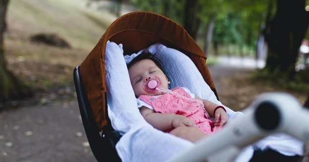 If you make the perfect timing for a walk in the stroller, you might have your baby nap the whole time | What To Do When Your Baby Hates Stroller | Baby Journey