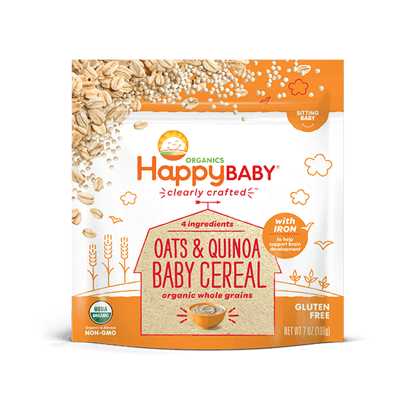 Happybaby Oats & Quinoa Cereal. When Can Babies Eat Rice Cereal | Baby Journey