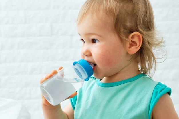 Most doctors recommend sips of water when babies start solids.. - A Complete Guide to When Can Babies Drink Water | Baby Journey