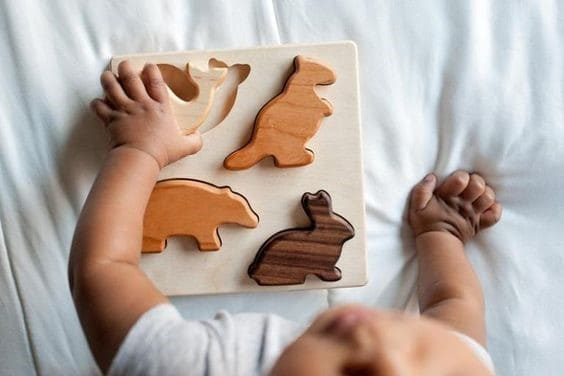 Wooden Animal Puzzle St | First Birthday Gift Ideas for Girl | Baby Journey