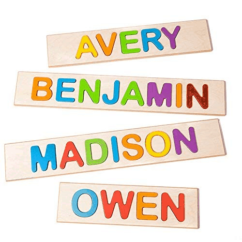 Custom Baby Name Puzzle  | First Birthday Gift for Boy | Baby Journey