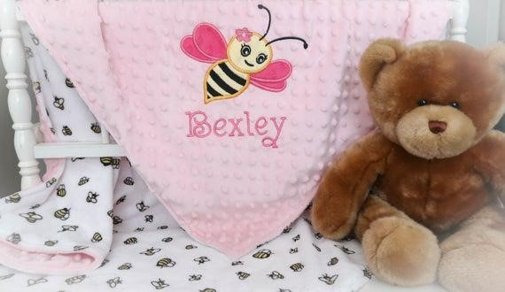 Personalised Blanket | First Birthday Gift Ideas for Girl | Baby Journey