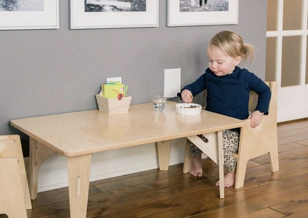 Keep your tables and shelves low. - How to Create a Montessori Playroom   Baby Journey