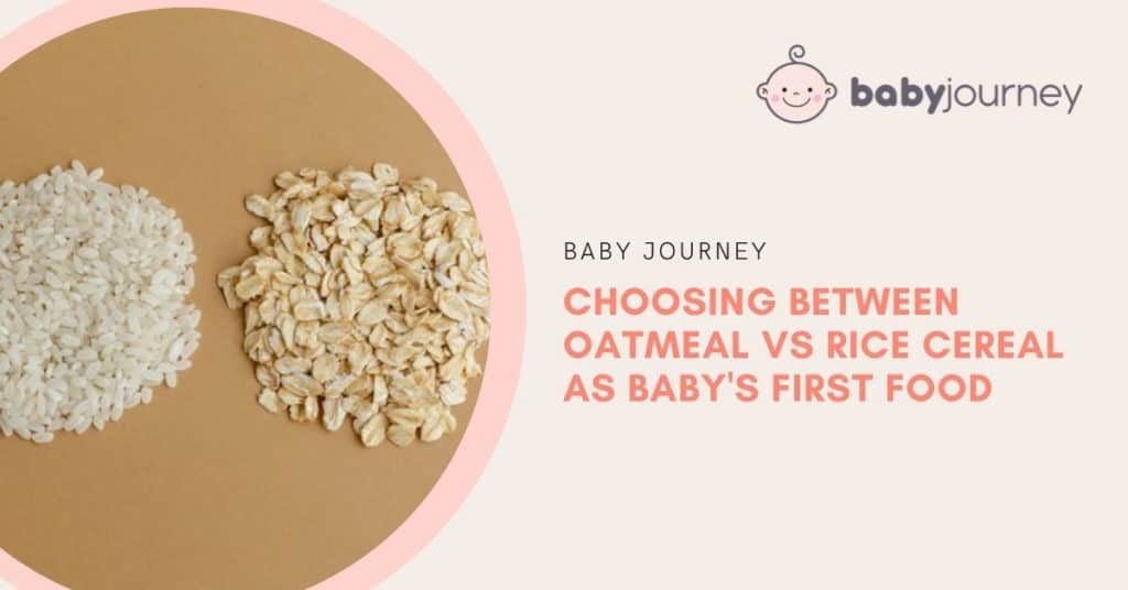 Oatmeal vs rice cereal | Baby Journey