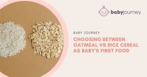 Oatmeal vs rice cereal   Baby Journey