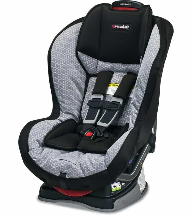 The Britax Allegiance is well-padded and has a non-detachable base that helps absorb impact well.- Britax Allegiance Car Seat Review | Baby Journey