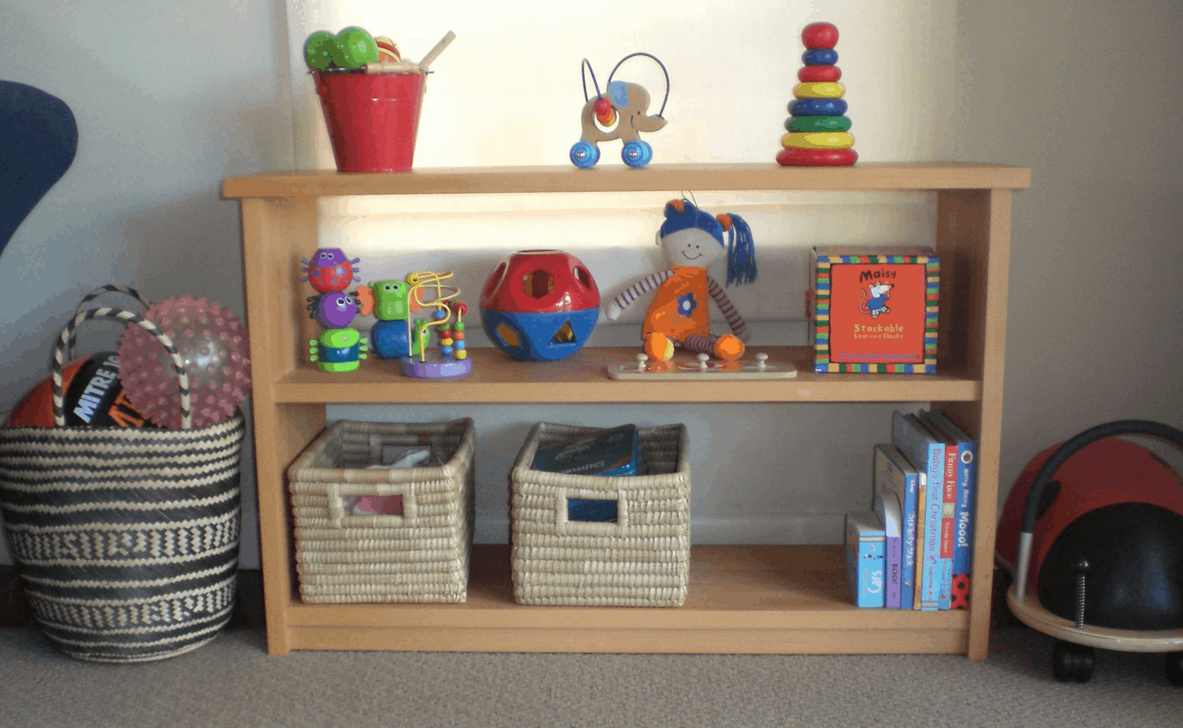 One way to make cleaning up toys less stressful is to set a place for each toy. -7 Effective Ways to Get Toddlers Cleaning Up Toys   Baby Journey