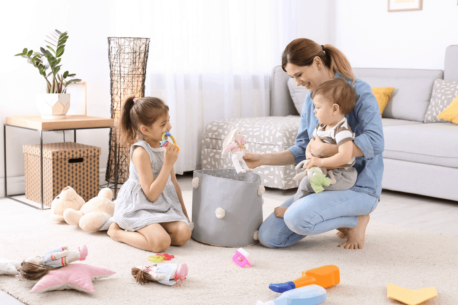 Be the best role model for your kids to let them learn to pick up toy cleaning fast. -7 Effective Ways to Get Toddlers Cleaning Up Toys   Baby Journey