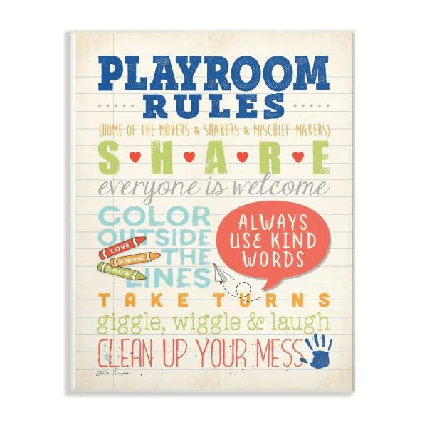 Set up some play time or playroom rules to help reduce the mess and make cleaning up easier after. -7 Effective Ways to Get Toddlers Cleaning Up Toys   Baby Journey