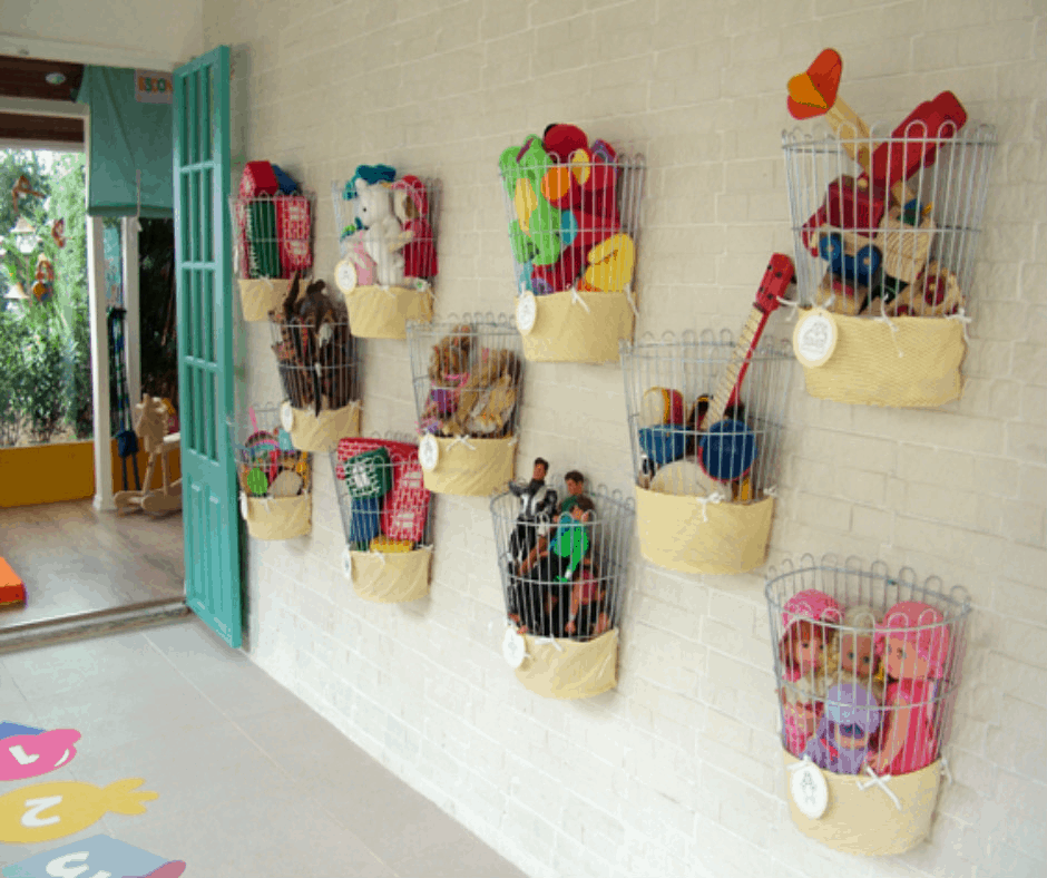 Creative and organized toy storage helps keep things tidy. -7 Effective Ways to Get Toddlers Cleaning Up Toys   Baby Journey