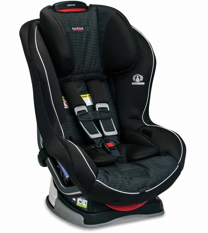 The Britax Emblem has broader flanks and double-layer side-impact protection.- Britax Allegiance Car Seat Review | Baby Journey