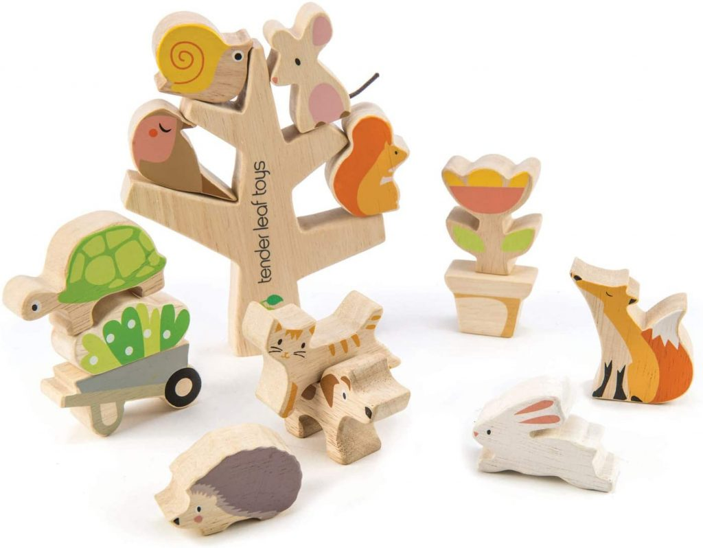 Tender Leaf Toys Stacking Garden Friends | Montessori Toys for 1 Year Old | Baby Journey