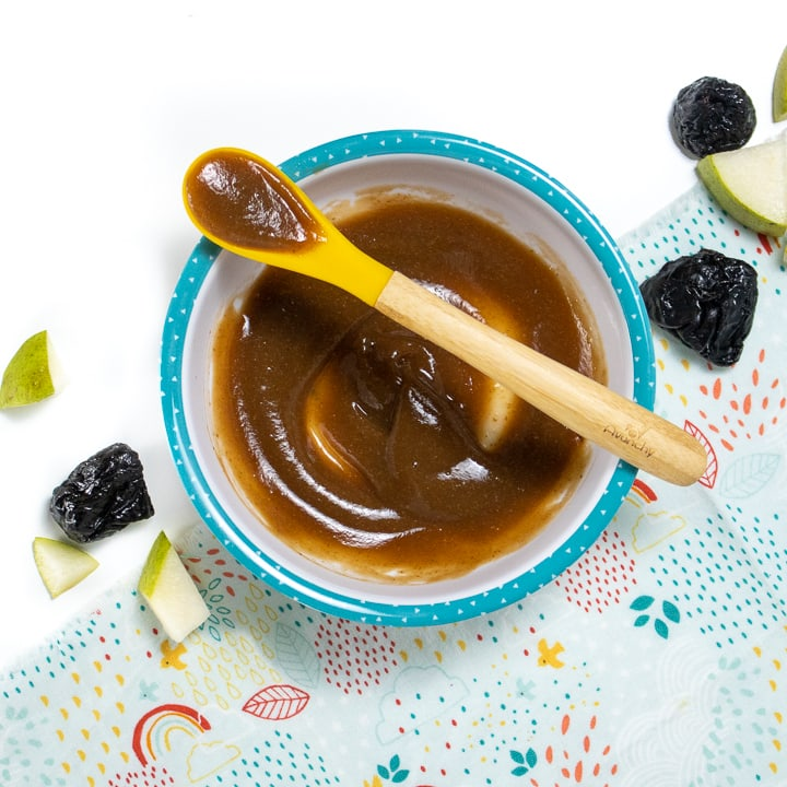 Pear, Prune, and Clove Puree | Baby Food That Help  with Constipation | Baby Journey