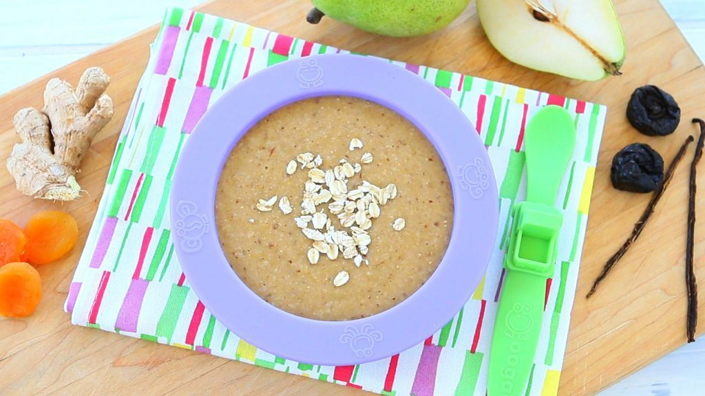 Prune, Apricot, and Ginger Oatmeal | Baby Food That Help  with Constipation | Baby Journey
