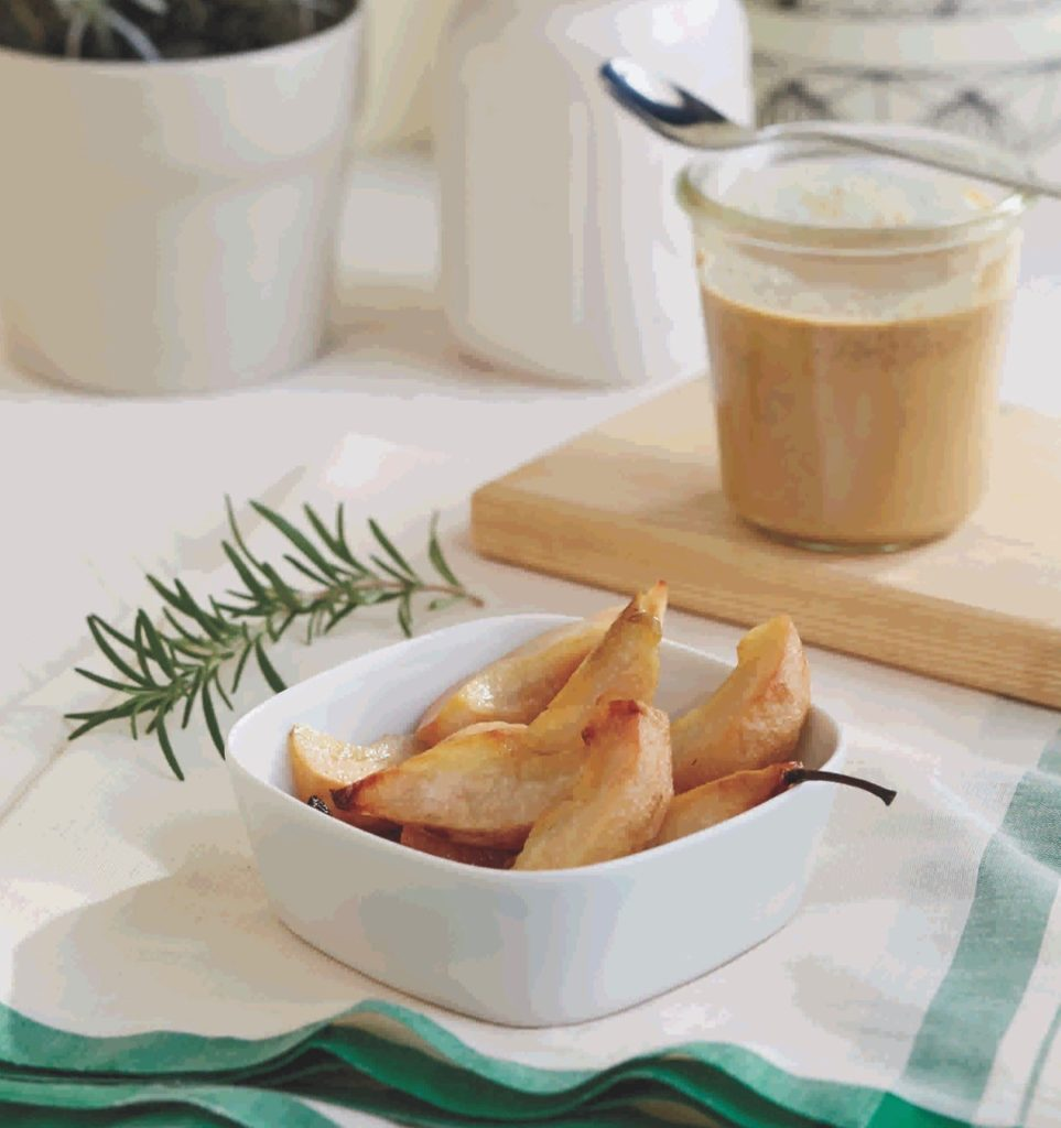 Roasted Pears with Rosemary   21 Stage 2 Baby Food Recipes Your Baby Will Love   Baby Journey