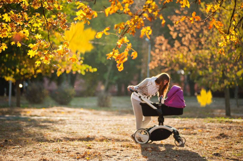 Mum and Baby in Autumn | Travel System vs Stroller and Carseat | Baby Journey