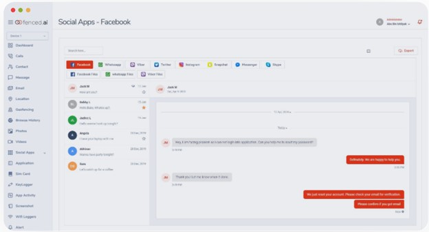 Social Media Monitoring   Fenced.ai Parental Control Software In-Depth Review   Baby Journey