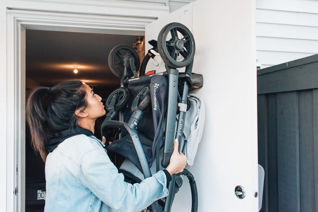 Over the Door Hooks Simplify Storage.- 45 Awesome Stroller Hacks for A Stress-Free Outing with Baby   Baby Journey Blog
