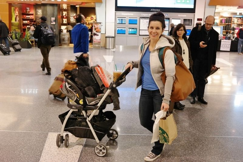 Strollers make it easy to navigate airports with your child. - Gate Checking Car Seat and Stroller | Baby Journey