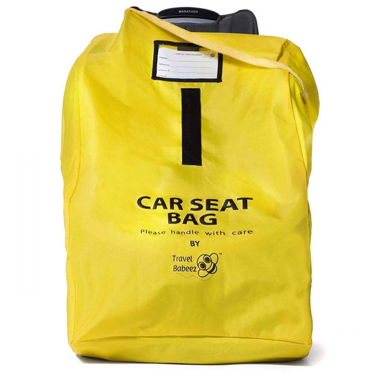 A car seat bag keeps your car seat in pristine condition and protects it from damage. - Gate Checking Car Seat and Stroller | Baby Journey