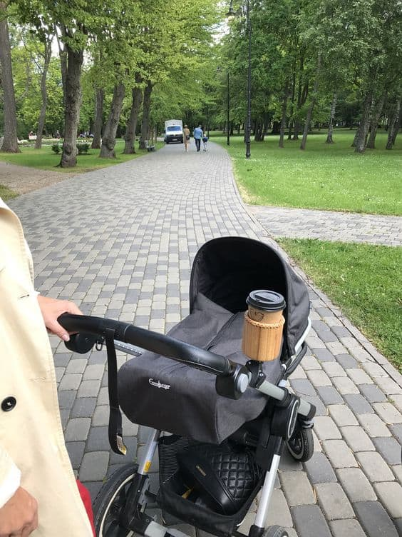 You can also find wooden cup holders on the market, they make a perfect gift for a coffee lover mom!- Top 13 Parent-approved Best Stroller Accessories Ideas | Baby Journey