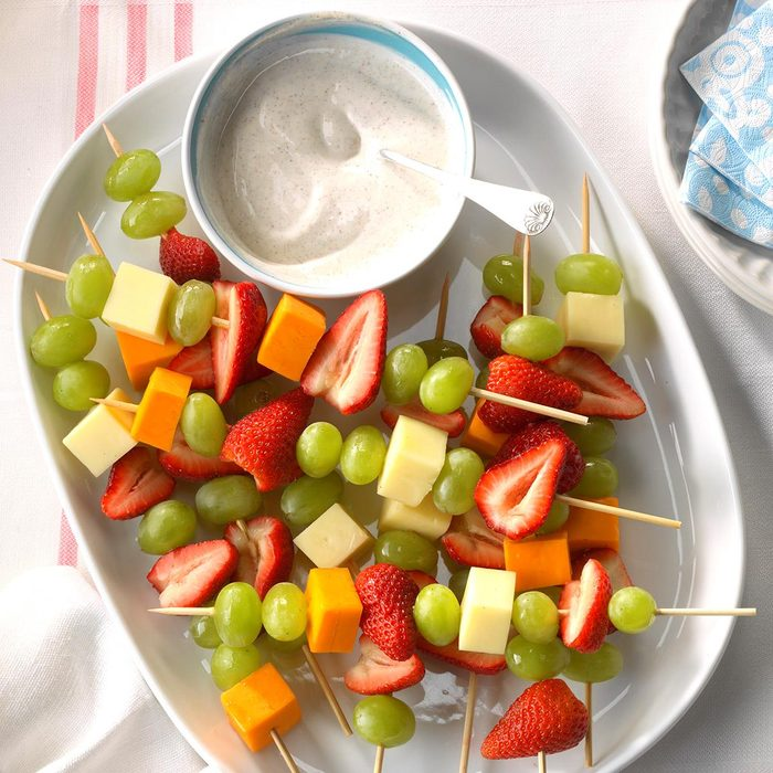 Fruit and Cheese Kebabs | 21 Easy Healthy Snacks for Toddlers | Baby Journey