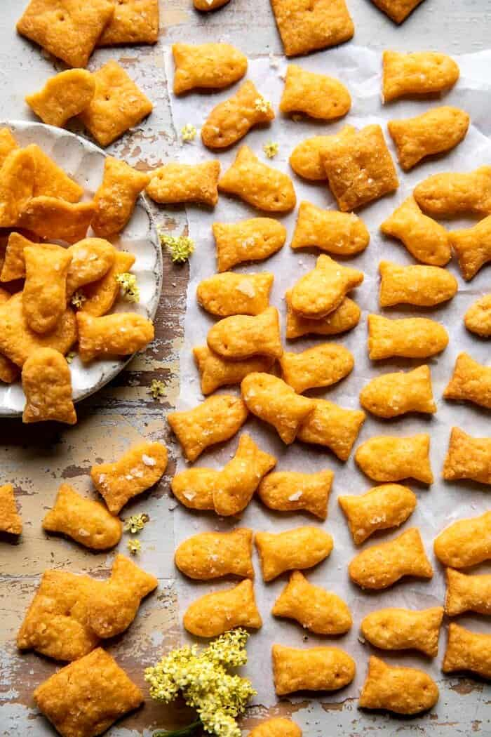 DIY Gold Fish Crackers  | 21 Easy Healthy Snacks for Toddlers | Baby Journey