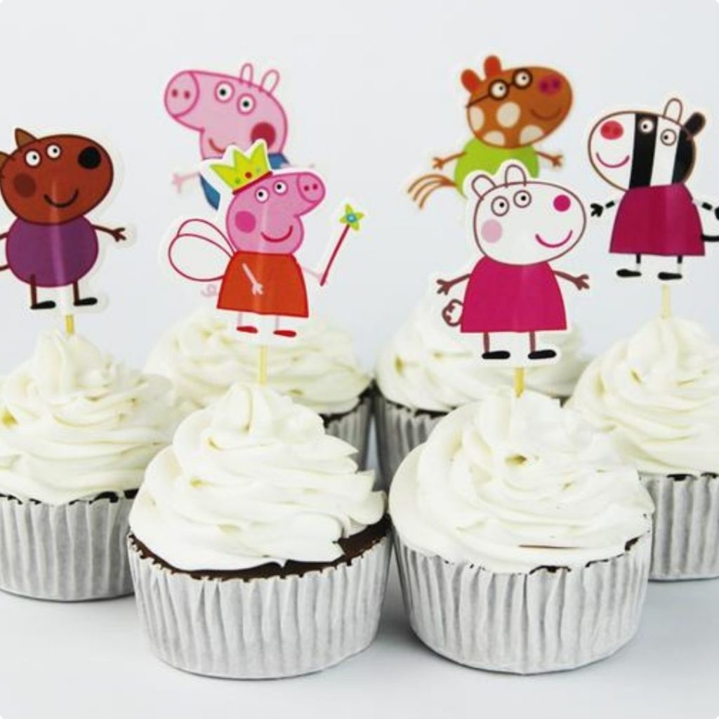 Cartoon Themed Cupcakes - 42 Unique Baby Shower Cakes and Baby Shower Cupcakes Ideas - Baby Journey Blog