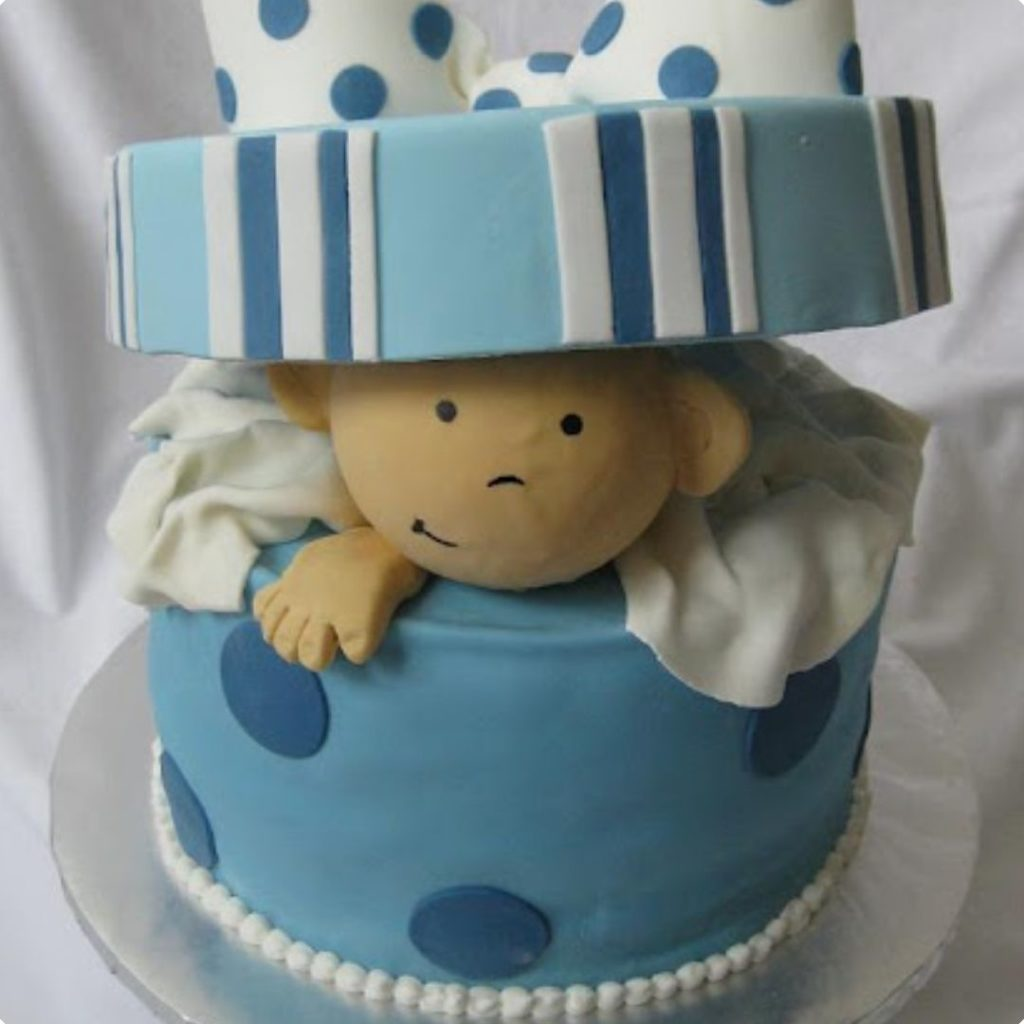 It's a Boy! cake - 42 Unique Baby Shower Cakes and Baby Shower Cupcakes Ideas - Baby Journey Blog