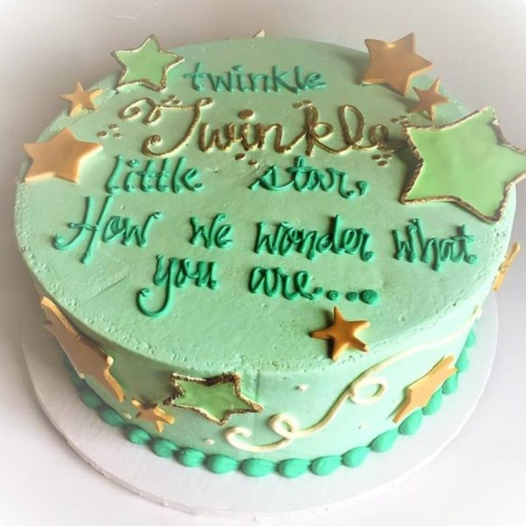 Twinkle, Twinkle Little Star - 42 Unique Baby Shower Cakes and Baby Shower Cupcakes Ideas - Baby Journey Blog